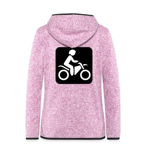 motorcycle - Naisten hupullinen fleecetakki