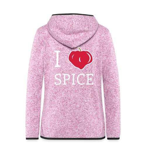 i_love_spice-eps - Naisten hupullinen fleecetakki
