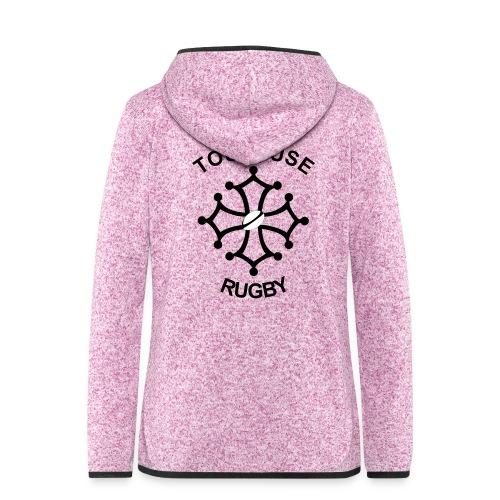 Toulouse Rugby - Veste à capuche polaire pour femmes