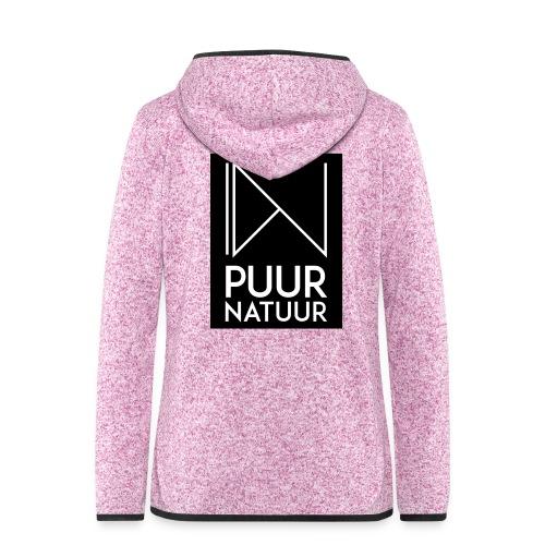 Logo puur natuur negatief - Vrouwen hoodie fleecejack