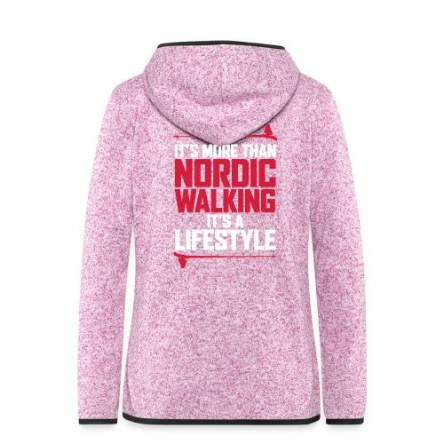 It's more than Nordic Walking - Naisten hupullinen fleecetakki