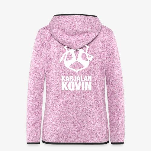 Karjalan Kovin Iso logo - Naisten hupullinen fleecetakki