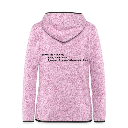 gabbers definitie - Vrouwen hoodie fleecejack