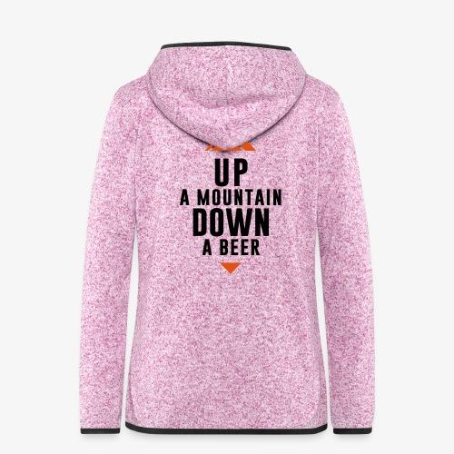 UP Mountain Down Beer - Veste à capuche polaire pour femmes
