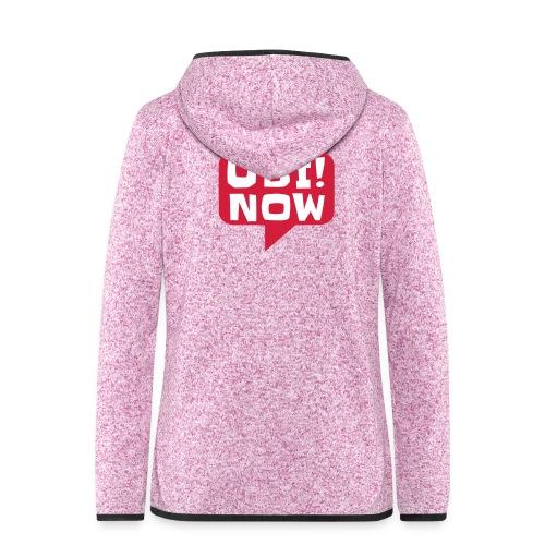 UBI! NOW - The movement - Women's Hooded Fleece Jacket