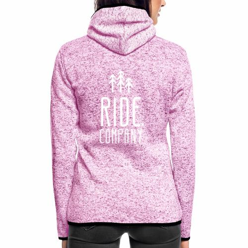 RIDE.company Logo - Frauen Kapuzen-Fleecejacke