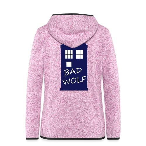Bad Wolf Tardis - Veste à capuche polaire pour femmes