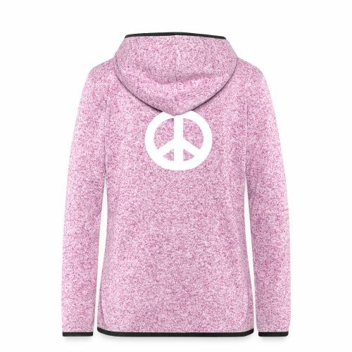 Peace - Women's Hooded Fleece Jacket