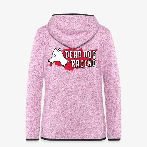 Dead dog racing logo - Women's Hooded Fleece Jacket
