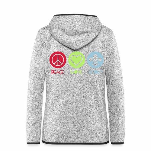 Peace Love Scout - Veste à capuche polaire pour femmes