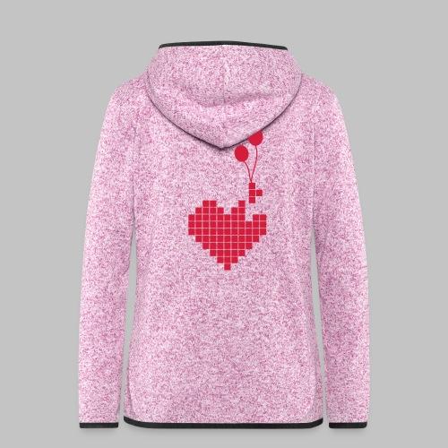 heart and balloons - Women's Hooded Fleece Jacket