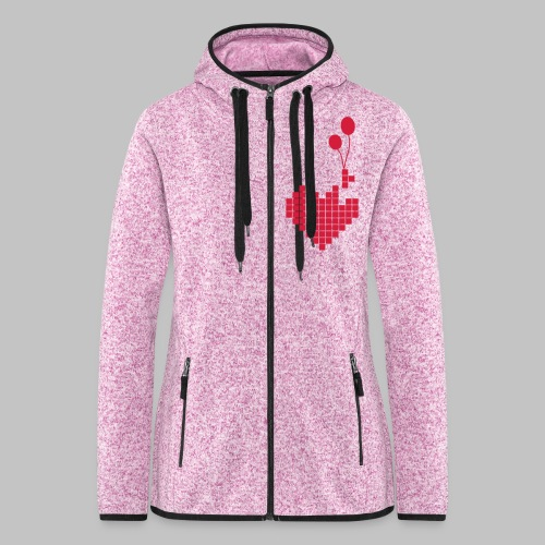 heart and balloons - Women's Hooded Fleece Jacket