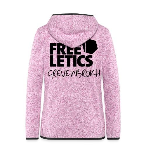 T-Shirt GV schwarz - Frauen Kapuzen-Fleecejacke