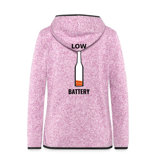 Beer Low Battery - Veste à capuche polaire pour femmes