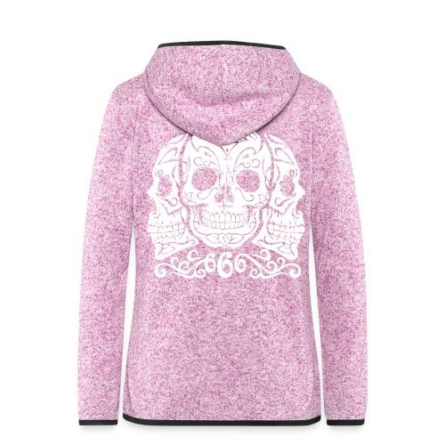 Skull Dia de los muertos - Veste à capuche polaire pour femmes