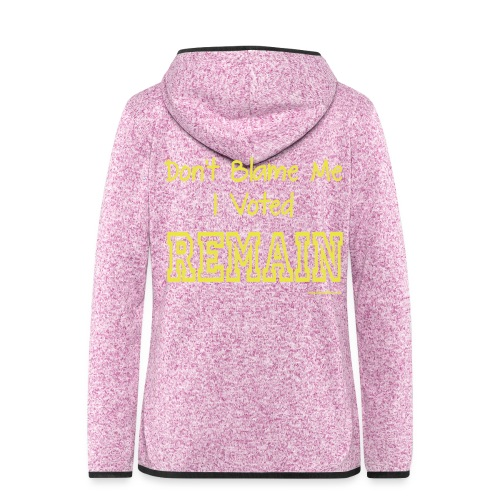 Dont Blame Me - Women's Hooded Fleece Jacket