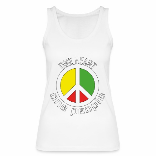 One Heart, One People - Peace - rot, gelb, grün - Frauen Bio Tank Top von Stanley & Stella