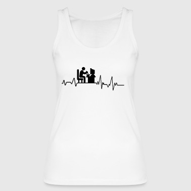 Heartbeat on PC Eat T-Shirt Gift Gamer Game - Women's Organic Tank Top by Stanley & Stella