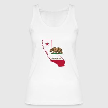 Californië met beer - Vrouwen bio tanktop van Stanley & Stella