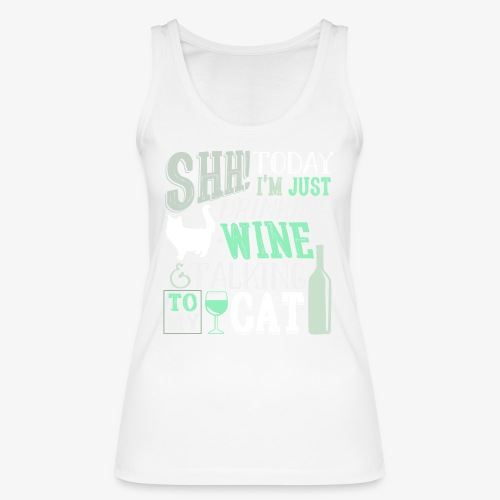 SHH Wine Cat Green - Stanley & Stellan naisten luomutanktoppi