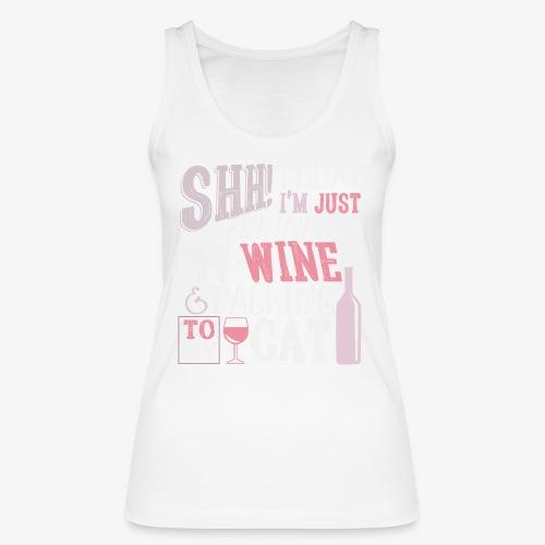 SHH Wine Cat Rose - Stanley & Stellan naisten luomutanktoppi
