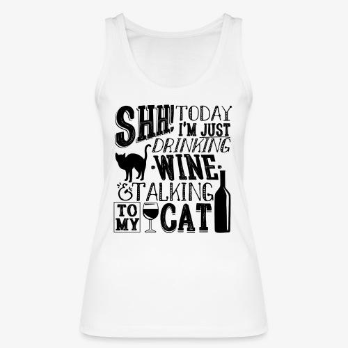 SHH Wine Cat B2 - Stanley & Stellan naisten luomutanktoppi