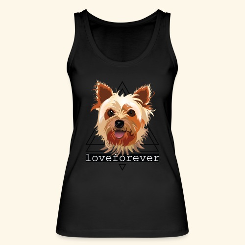 YORKIE LOVE FOREVER - Camiseta de tirantes ecológica mujer de Stanley & Stella