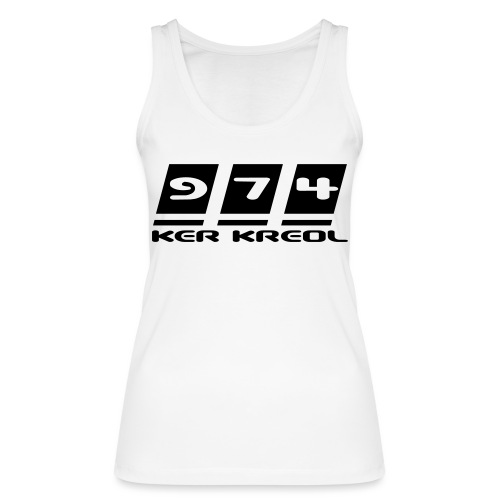Logo écriture 974 Ker Kreol - Débardeur bio Femme