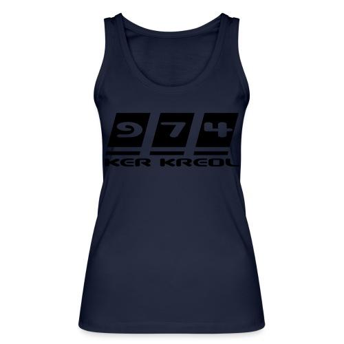 974 Ker Kreol Black POWER - Débardeur bio Femme
