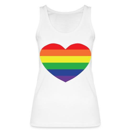 Rainbow heart - Women's Organic Tank Top by Stanley & Stella