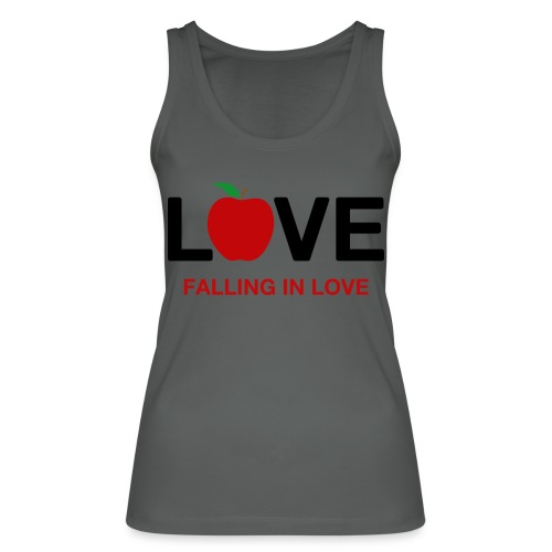 Falling in Love - Black - Women's Organic Tank Top by Stanley & Stella