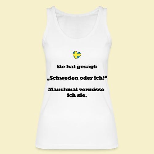 T-Shirt Schweden Herz schwarz für ihn - Frauen Bio Tank Top von Stanley & Stella