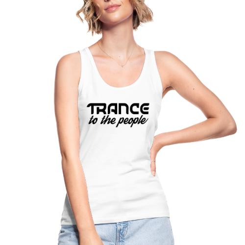 Trance to the People Sort Logo - Økologisk Stanley & Stella tanktop til damer