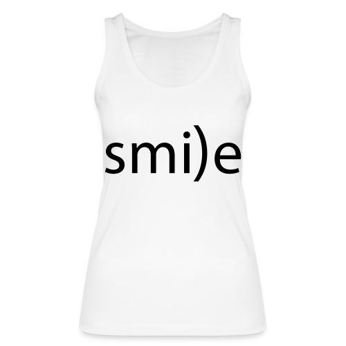 smile Emoticon lächeln lachen Optimist positiv yes - Women's Organic Tank Top by Stanley & Stella