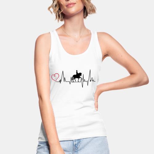 Heartbeat Dressurreiterin klassisch Herz - Frauen Bio Tank Top von Stanley & Stella