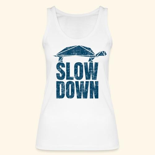Slow Down witzige coole Schildkröte Keep Calm kein - Frauen Bio Tank Top von Stanley & Stella