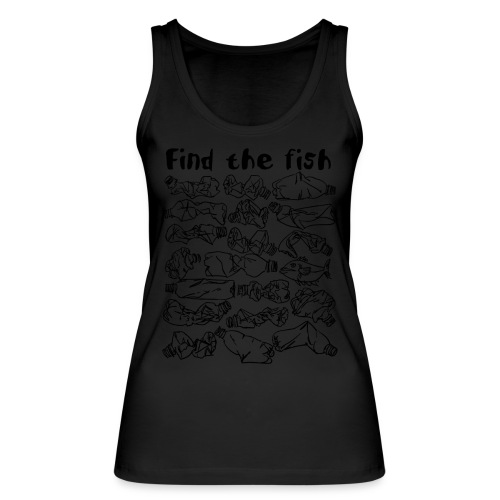 ECO ocean plastic bottles pollution find the fish - Women's Organic Tank Top by Stanley & Stella