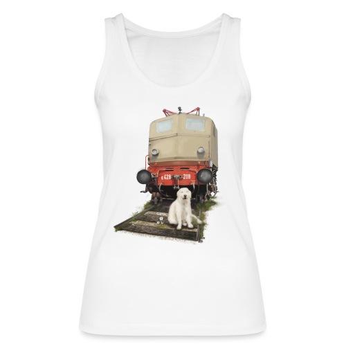 Golden Retriever with Train - Top ecologico da donna di Stanley & Stella