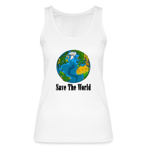 Save The World-Planet - Ekologisk tanktopp dam från Stanley & Stella