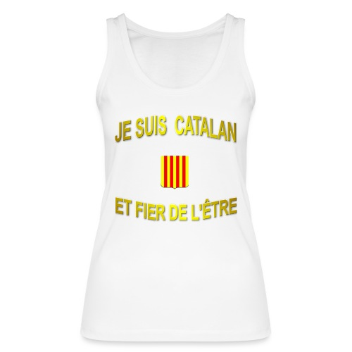 Tee-Shirt supporter du pays CATALAN - Débardeur bio Femme