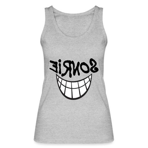 Para el Espejo:Sonrie 01 - Camiseta de tirantes ecológica mujer de Stanley & Stella