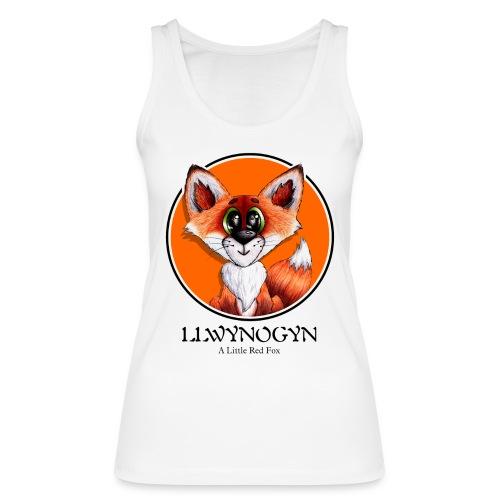 llwynogyn - a little red fox (black) - Stanley & Stellan naisten luomutanktoppi