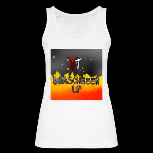 Waschbeer Design 2# Mit Flammen - Frauen Bio Tank Top von Stanley & Stella
