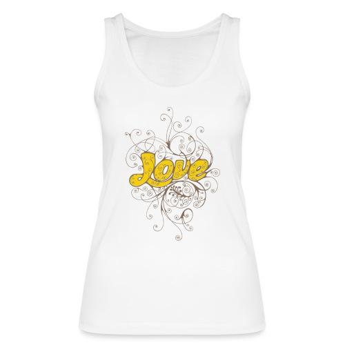 Scritta Love con decorazione - Top ecologico da donna di Stanley & Stella