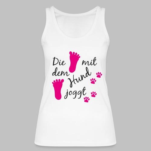 Die mit dem Hund joggt - Pink Edition - Frauen Bio Tank Top von Stanley & Stella