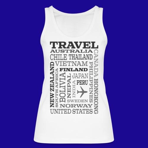 Travel Places Gray design - Stanley & Stellan naisten luomutanktoppi