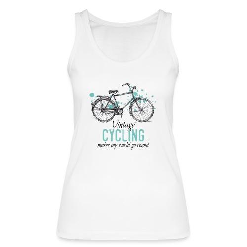 Retro Style Vintage Fahrrad Zeichnung - Frauen Bio Tank Top von Stanley & Stella