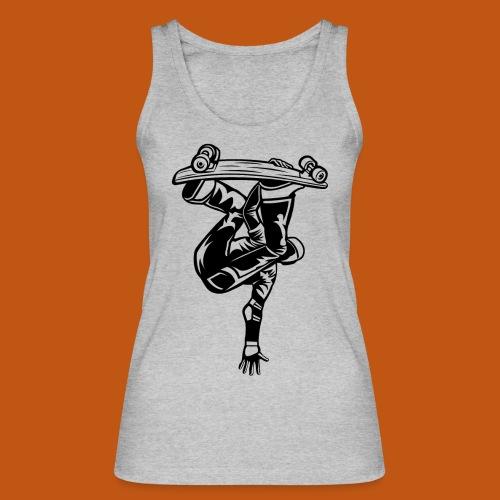 Skater / Skateboarder 03_schwarz - Frauen Bio Tank Top von Stanley & Stella