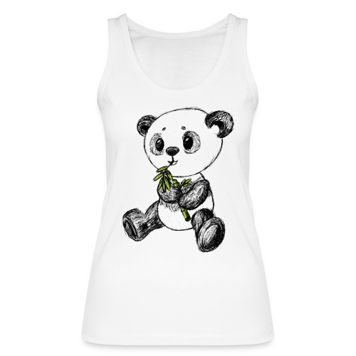 Panda bjørn farvet scribblesirii - Økologisk Stanley & Stella tanktop til damer