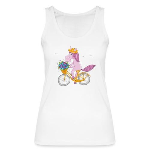 Pferd auf Fahrrad - Frauen Bio Tank Top von Stanley & Stella